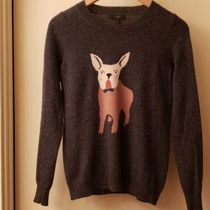 J. Crew Dog Design Heather Grey Sweater